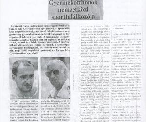 www.kozter.hu : Gyermekotthonok Nemzetközi Sporttalálkozója 2000.