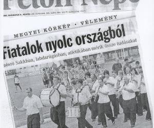 Petőfi Népe: Fiatalok nyolc országból 2008 aug. 08.