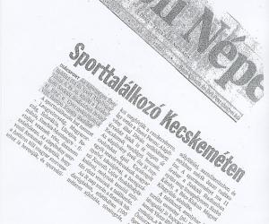 Petőfi Népe: Sporttalálkozó Kecskeméten 2005. jún. 06.