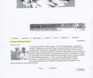 Kecskeméti Tv: Kié lesz az Európa Kupa? 2005. jún. 06