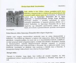Kecskeméti Tv: Európa Kupa Döntő Kecskeméten 2006. jún. 06.
