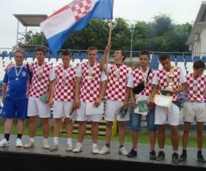 2010 labdarúgásban 3-helyezett Horvátország.