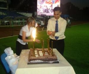 2010 az ünnepi ( születésnapi ) 100 szeletes torta.