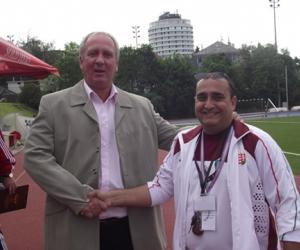Nyilasi Tiborral, az MLSZ sportigazgatójával, 70-szeres válogatott futbalistával.