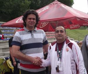 Dr. Deutsch Tamással a MOB alelnökével, volt sportminiszterrel.