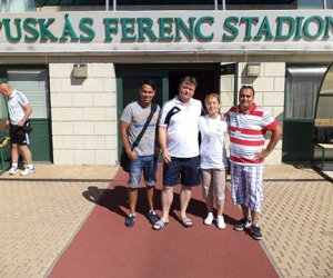 Puhl Sándorral a Puskás Ferenc Stadionban.