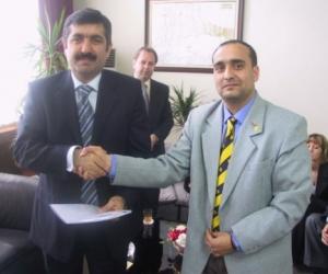 Aydin Nezih Dogan - Tekirdag kormányzójával (2007)