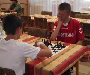 Dán sportoló sakk közben.