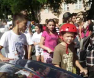 A görkoriversenyen részt vettek kicsik és nagyok egyaránt.