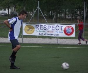 labdarúgó mérkőzés.