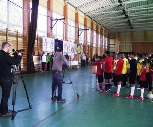 Az UEFA forgatócsoportja mellett, az Encs Városi TV is eljött a rendezvényre.
