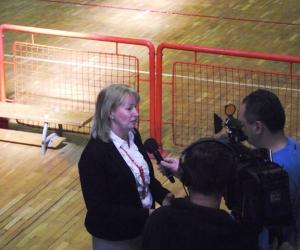 Petrika Ibolya nyilatkozik a Nyíregyházi TV-nek.