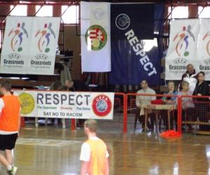 UEFA-MLSZ grassroots mérkőzés Tiszavasvari Sportcsarnokban.
