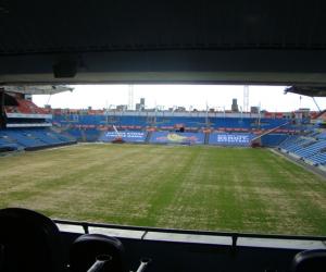 A Stadion ahol a gyakorlati foglalkozások voltak.