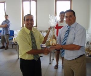 Radics Kálmán alapítványi elnök és Bányai Gábor a BKM-i Közgyűlés elnöke a Gyermekotthonok X. Európa Kupája Döntőjének állófogadásán 2007-ben.