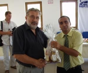 Radics Kálmán alapítványi elnök és Nyitrai András Országgyűlési képv. a Gyermekotthonok X. Európa Kupája Döntőjének állófogadásán 2007-ben.