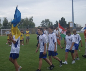 Az ukrán tesrvérváros Beregszász sportcsapata is jelen volt.